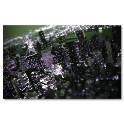 Αφίσα (πόλη, κτίρια, φώτα)